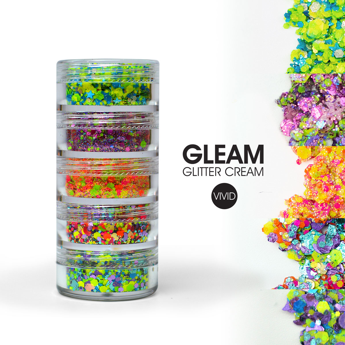 Tropical Gleam Chunky Glitter Stack