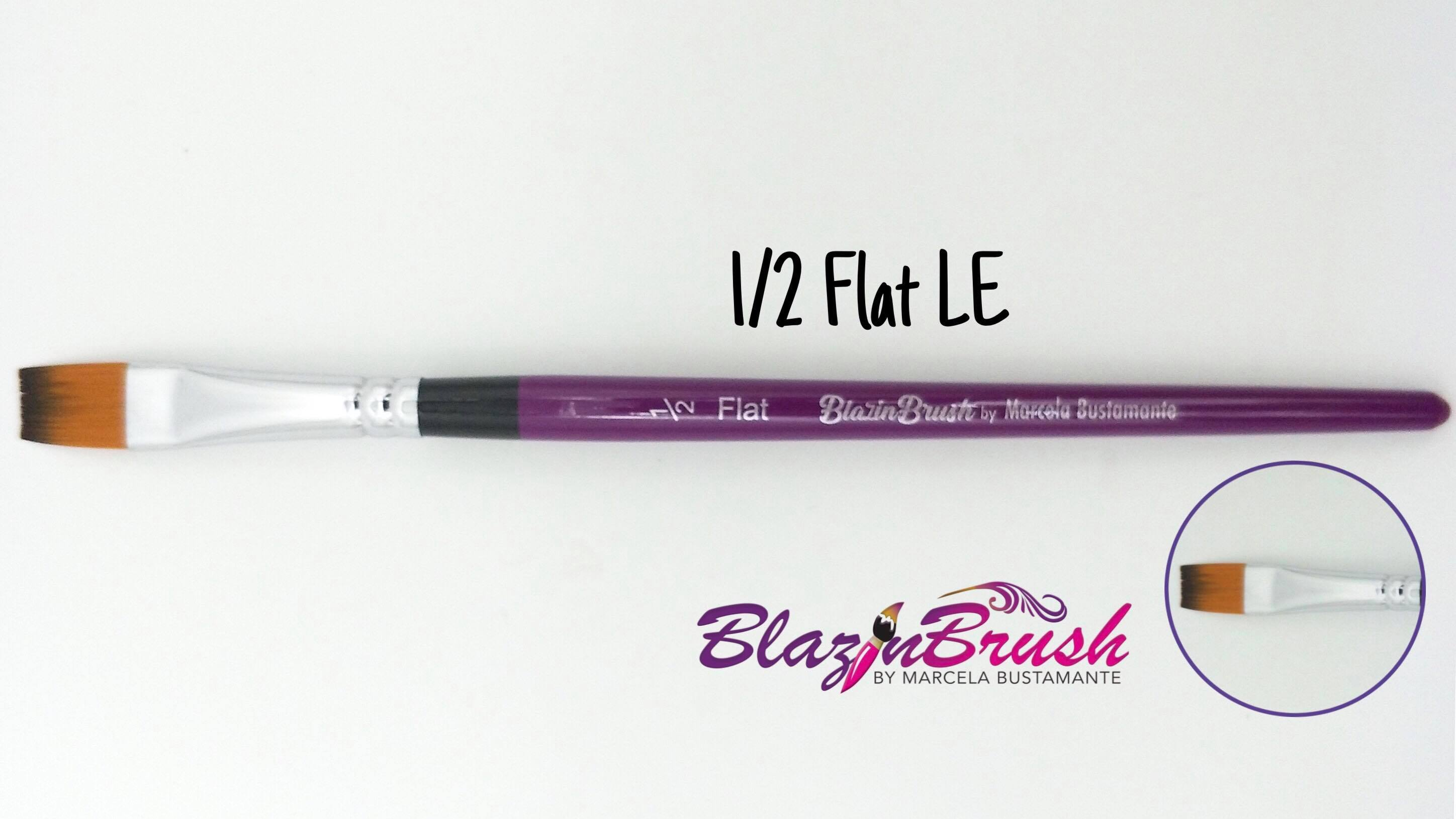 "Blazin Brush Flat 1/2"" - Marcela Bustamante"