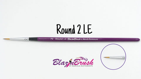 Blazin Brush Round #2 LE - Marcela Bustamante