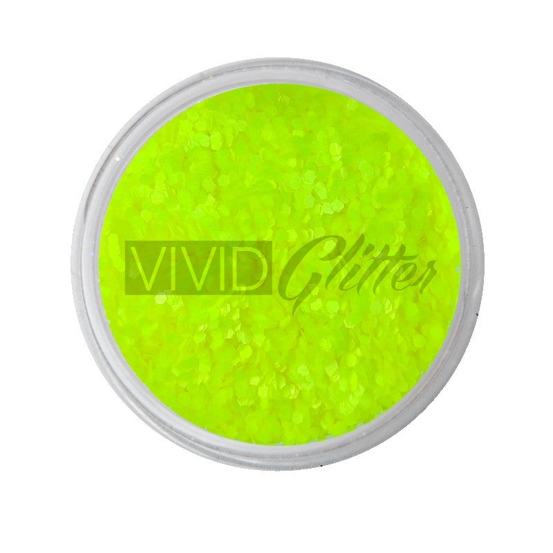 Yellow Bellows (small chunks) - UV Chunky Glitter