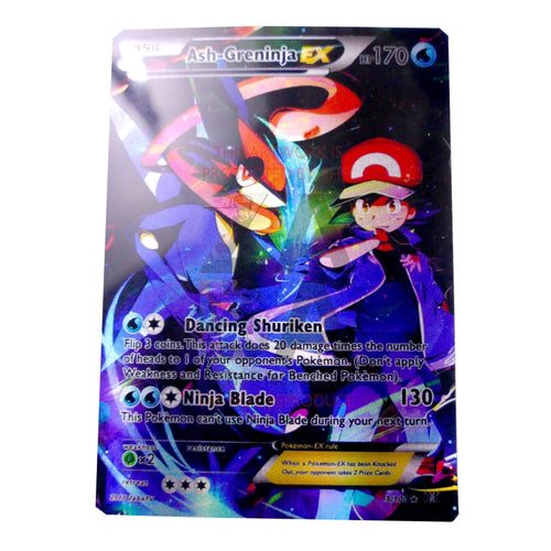 2Nd Edition Full Art Ash-Greninja Ex Custom Pokemon Card