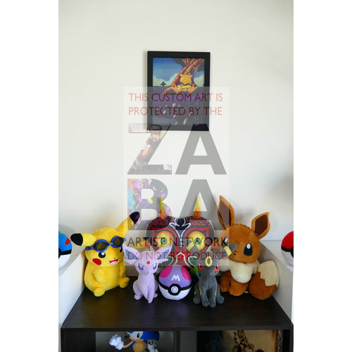 Abra (43/102 Base Set) 8.5 X 11 Poster Print By Lunumbra