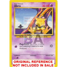 Abra 43/102 Base Set Extended Art Custom Pokemon Card