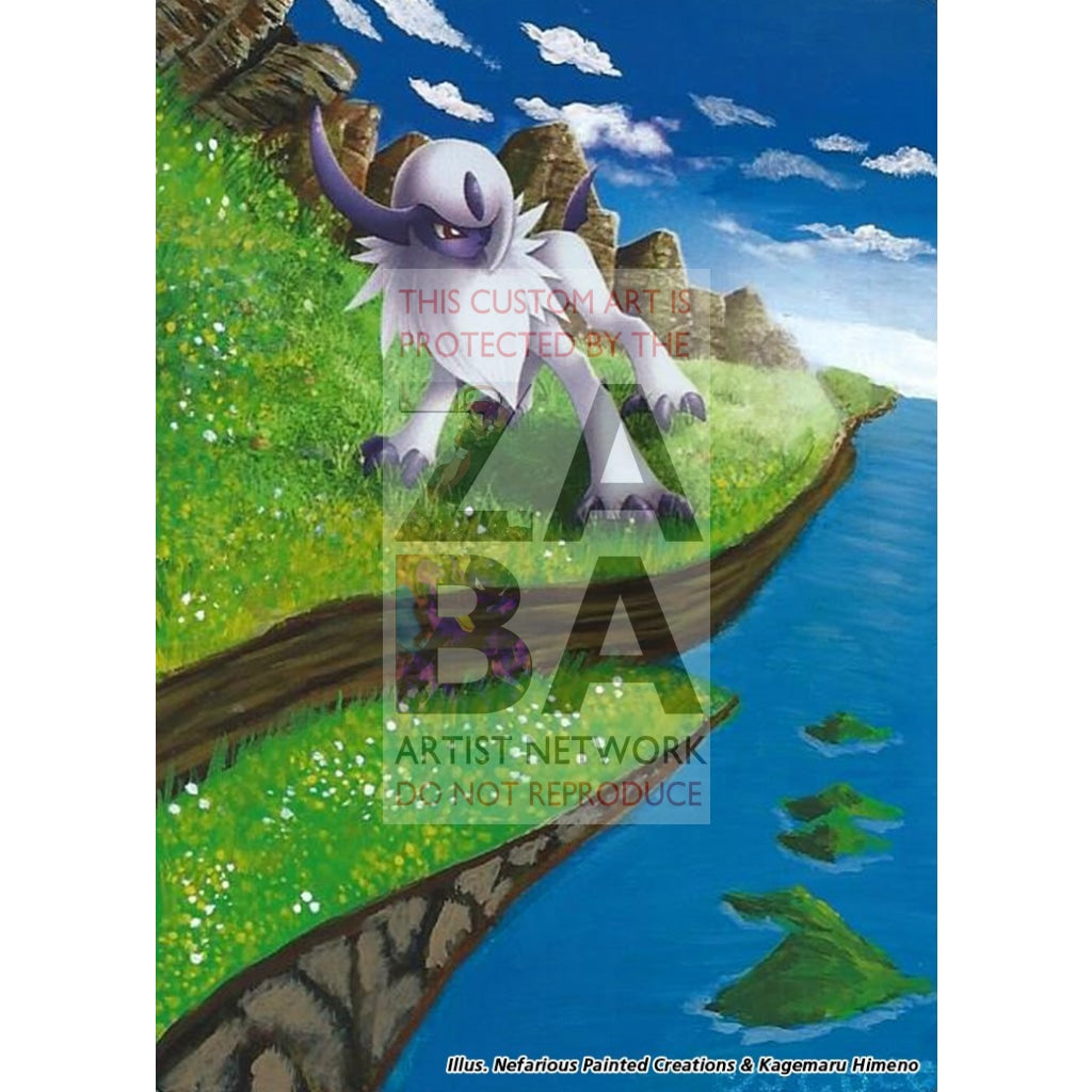 Absol 40/108 Roaring Skies Extended Art Custom Pokemon Card Silver Holo