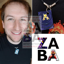 Alakazam 1/102 Base Set Extended Art Custom Pokemon Card 18 Necklace (Pic For Reference)