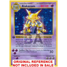 Alakazam 1/102 Base Set Extended Art Custom Pokemon Card