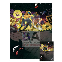 All-Night Party 96/122 Breakpoint Extended Art Custom Pokemon Card 7 X 10 Silver Foil Poster +
