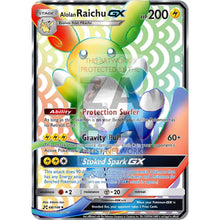 Alolan Raichu Gx Rainbow Rare Custom Pokemon Card