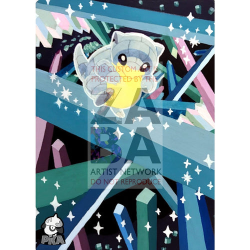 Alolan Sandshrew 137/236 Cosmic Eclipse Extended Art Custom Pokemon Card Silver Holographic