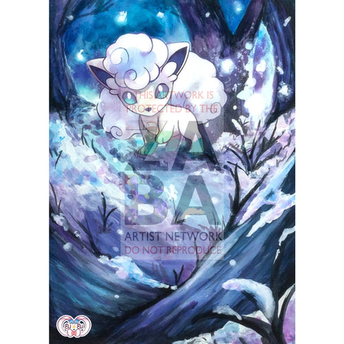 Alolan Vulpix 21/145 Guardians Rising Extended Art Custom Pokemon Card Version 1 / Silver Foil
