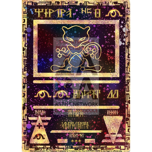 Ancient Mewtwo Custom Pokemon Card Silver Foil