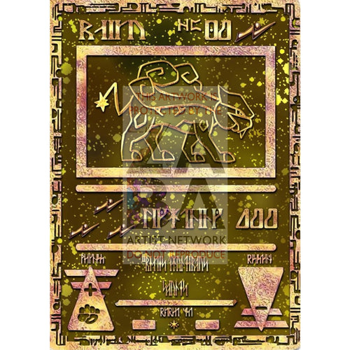 Ancient Raikou Custom Pokemon Card Silver Foil