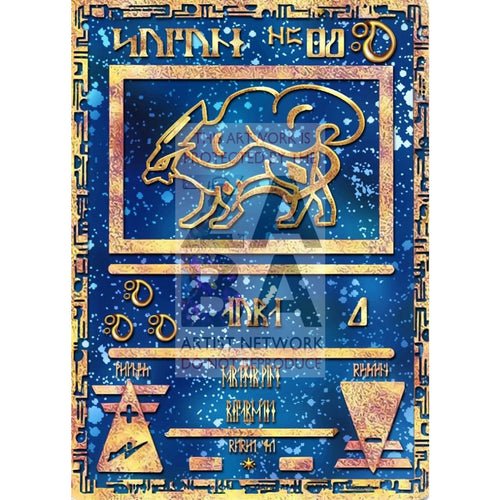 Ancient Suicune Custom Pokemon Card Silver Foil