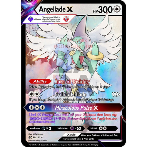Angellade X (Angemon X Gallade) Custom Pokemon Card