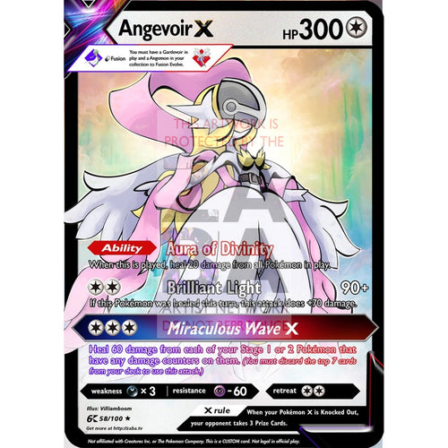 Angevoir X (Angemon X Gardevoir) Custom Pokemon Card