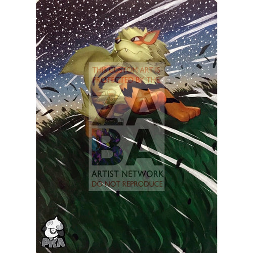 Arcanine 11/122 Breakpoint Extended Art Custom Pokemon Card Silver Holographic