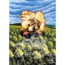 Arcanine 23/102 Base Extended Art Custom Pokemon Card Version 2 Textless Silver Holographic
