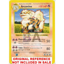Arcanine 23/102 Base Extended Art Custom Pokemon Card