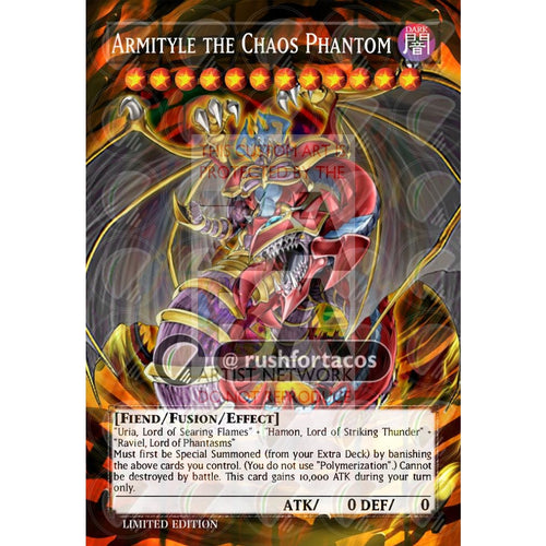 Armityle The Chaos Phantom Full Art Orica- Custom Yu-Gi-Oh! Card