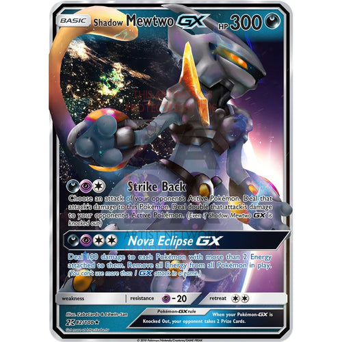 Armored Shadow Mewtwo Gx Custom Pokemon Card