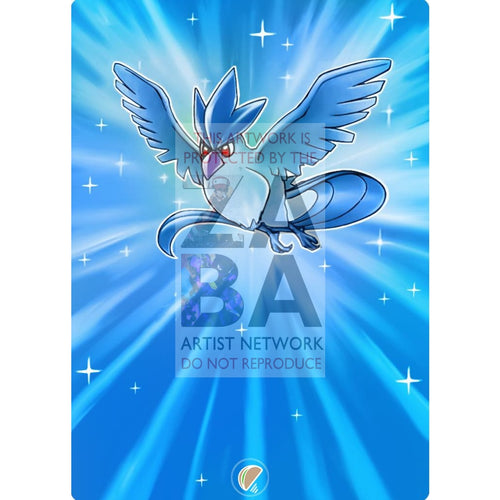 Articuno 2/62 Fossil Extended Art Custom Pokemon Card Silver Foil