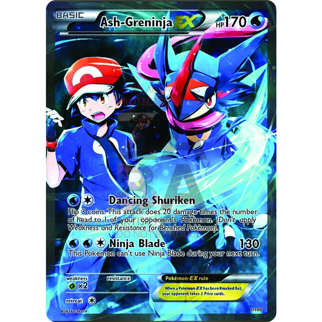 Ash-Greninja Ex Full Art Custom Pokemon Card