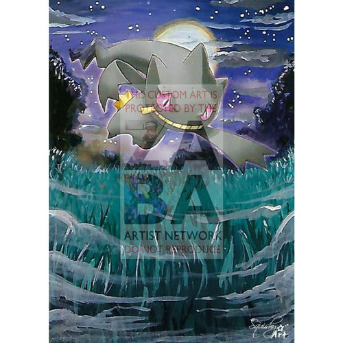 Banette 23/132 Secret Wonders Extended Art Custom Pokemon Card Textless Silver Holographic