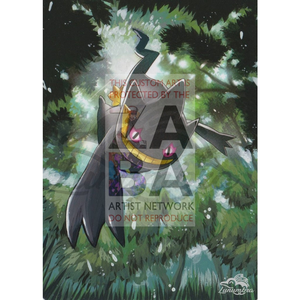 Banette 32/108 Xy Roaring Skies Extended Art Custom Pokemon Card Textless Silver Holographic