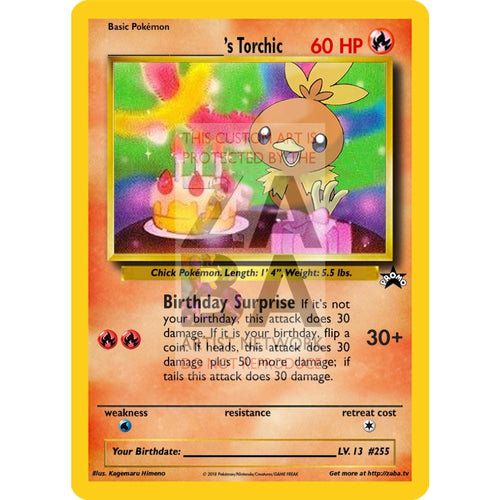 Birthday Torchic Custom Pokemon Card