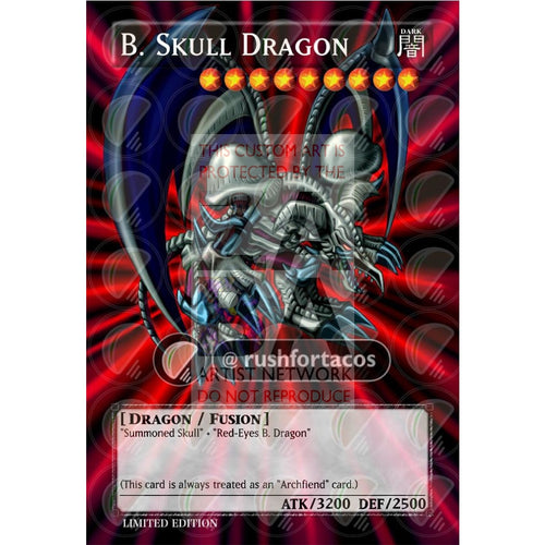 Black Skull Dragon Full Art Orica - Custom Yu-Gi-Oh! Card Silver Holographic