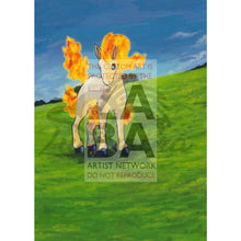 Blaines Ponyta 64/132 Gym Challenge Extended Art Custom Pokemon Card Textless Silver Holographic