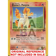 Blaines Ponyta 64/132 Gym Challenge Extended Art Custom Pokemon Card