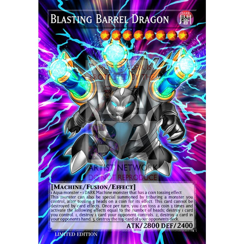 Blasting Barrel Dragon Full Art Orica - Custom Yu-Gi-Oh! Card