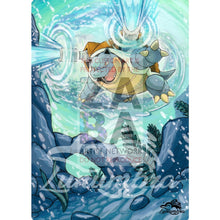 Blastoise 25/181 Team Up Extended Art Custom Pokemon Card Silver Holographic