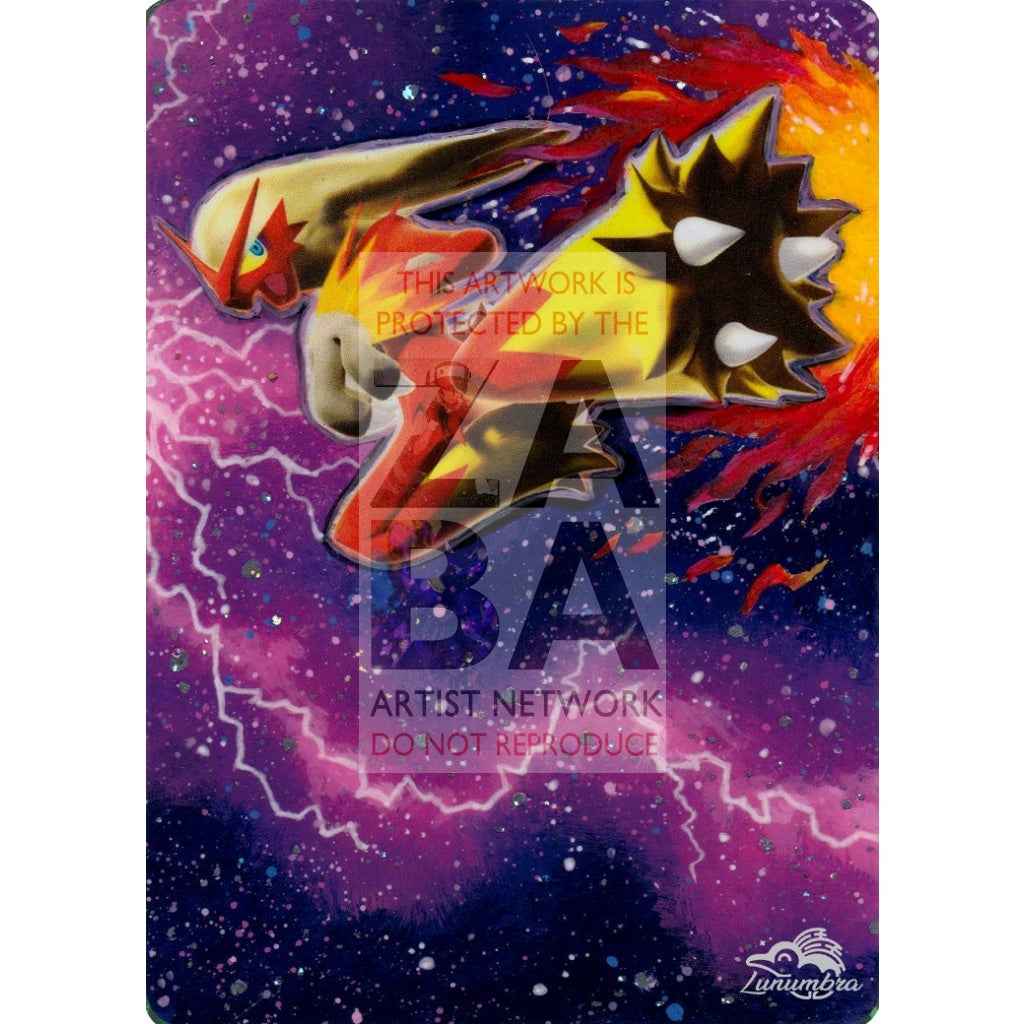 Blaziken Fb Lv.x 142/147 Supreme Victors Extended Art Custom Pokemon Card Textless Silver