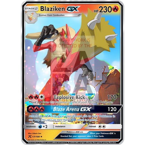 Blaziken Gx Custom Pokemon Card Silver Foil