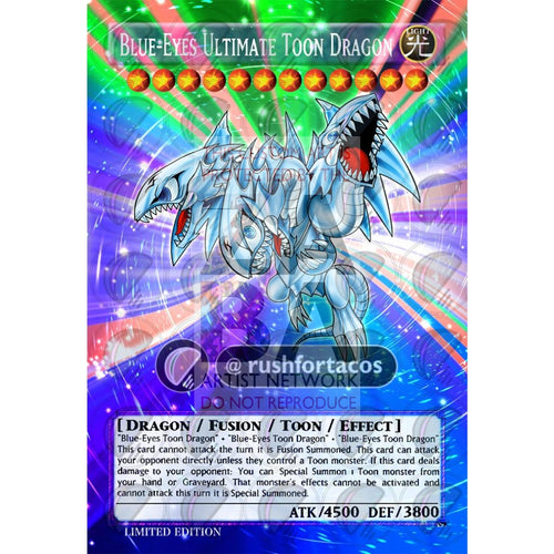 Blue-Eyes Ultimate Toon Dragon Full Art Orica - Custom Yu-Gi-Oh! Card