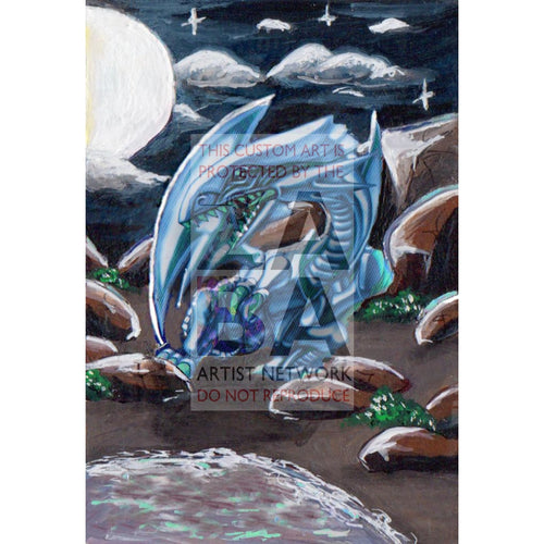 Blue-Eyes White Dragon Extended Art - Custom Yu-Gi-Oh! Card Silver Holographic