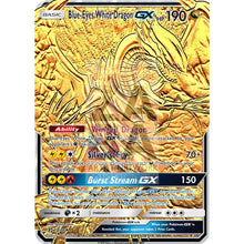 Blue-Eyes White Dragon Gx (Pokemon Yu-Gi-Oh! Crossover) Custom Pokemon Card Gold