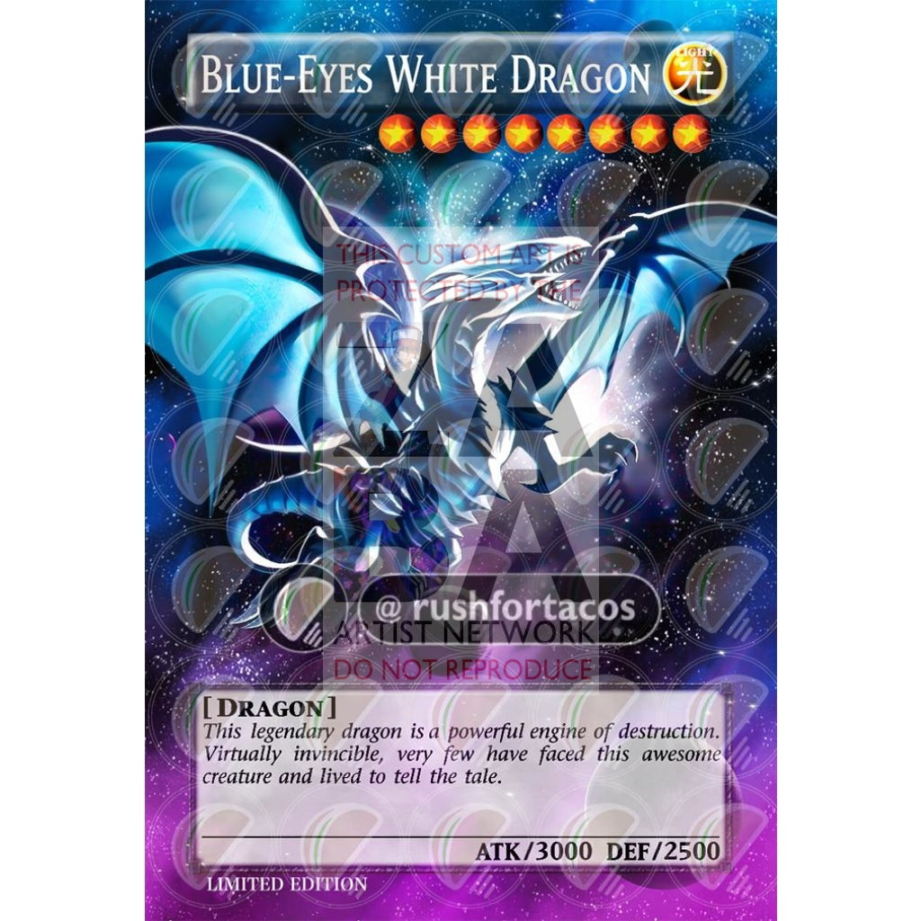 Blue Eyes White Dragon V.8 Full Art Orica - Custom Yu-Gi-Oh! Card Silver Holographic