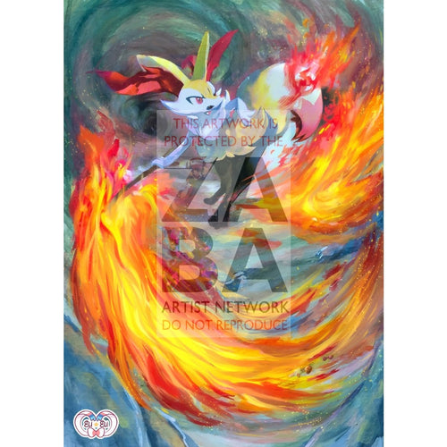Braixen 26/162 Breakthrough Extended Art Custom Pokemon Card Silver Foil