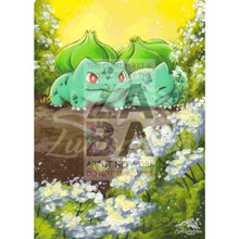 Bulbasaur 12/17 Pop 2 Extended Art Custom Pokemon Card Textless Silver Holographic