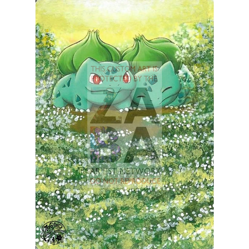 Bulbasaur 12/17 Pop Series 2 Extended Art Custom Pokemon Card Silver Holo