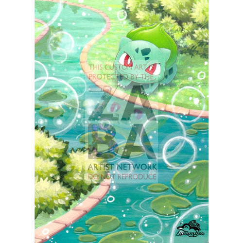 Bulbasaur 1/72 Shining Legends Extended Art Custom Pokemon Card Textless Silver Holographic