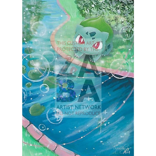 Bulbasaur 1/73 Shining Legends Extended Art Custom Pokemon Card Textless Silver Holographic