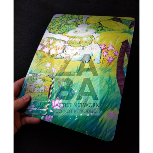 Bulbasaur 44/102 8X10.5 Holographic Poster + Card Gift Set Only Custom Pokemon