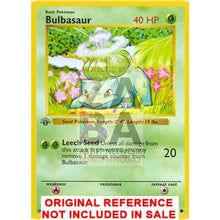 Bulbasaur 44/102 Base Set (+Text) Extended Art Custom Pokemon Card
