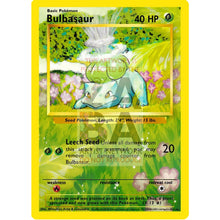 Bulbasaur 44/102 Base Set (+Text) Extended Art Custom Pokemon Card Silver Foil