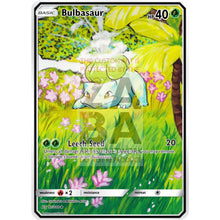 Bulbasaur Base Set 44/102 Extended Art Custom Pokemon Card Non-Holographic