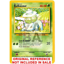 Bulbasaur Base Set 44/102 Extended Art Custom Pokemon Card